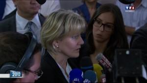 Nadine Morano s'exprime à Neuves-Maisons après sa défaite aux législatives, 17 juin 2012