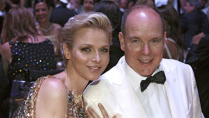 Charlène et Albert de Monaco le 3 août 2012 lors du 64e bal de la rose.
