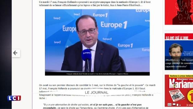 """""""Si je ne suis pas..."""" : le lapsus de Hollande sur sa candidature"""