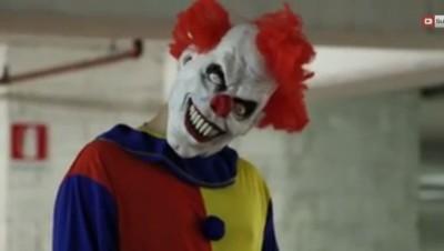 Un extrait d'une vidéo postée par la société DN Pranks productions. Ces vidéos mettent en scène des clowns terrifiants.