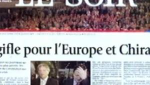 une du soir apres referendum francais