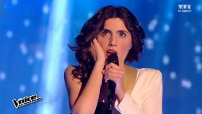 Battista Acquaviva pendant les demi-finales de The Voice