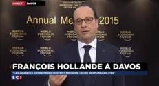 """Hollande aux entreprises et à la finance : """"Chacun doit prendre ses responsabilités"""""""