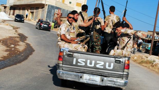 Membres de l'Armée Syrienne Libre, opposants à Bachar al-Assad (juillet 2012)