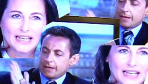 Ségolène Royal et Nicolas Sarkozy lors du débat télévisé du 2 mai 2007
