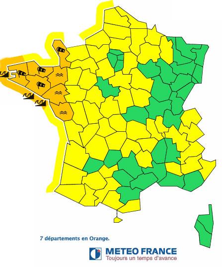 La carte de Météo France du 14 février 6h