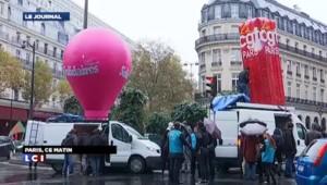 Paris : des centaines de salariés manifestent contre le travail dominical