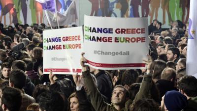 Grèce : meeting de Syriza à Athènes, 22/1/15