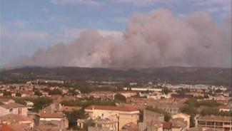 Incendie entre Narbonne et le littoral le 29 juillet 2010