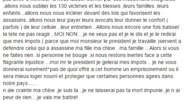 Post facebook abdeslam