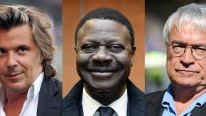 Vincent Labrune, Pape Diouf, Jean-Claude Dassier.