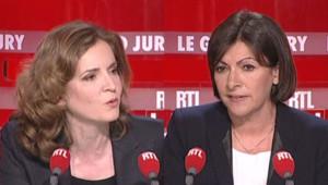 "NKM et Anne Hidalgo au ""Grand Jury RTL-LCI-Le Figaro"" le 9/3/14"