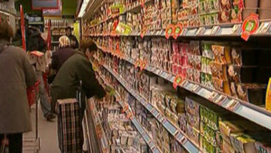 supermarché rayon produit alimentation
