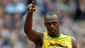 Usain Bolt, juste avant sa série du 200 m, le 7 août 2012.