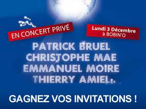 Assistez au concert privé Mfm le 3 décembre !