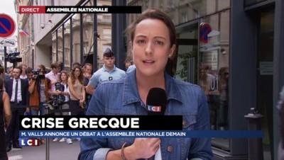 """Crise de la Grèce : Valls annonce un débat à l'Assemblée, """"salué de gauche à droite"""""""