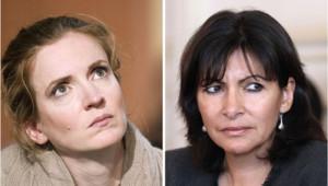 Les deux prétendantes à la mairie de Paris Nathalie Kosciusko-Morizet et Anne Hidalgo/Images d'archives