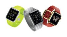 Les trois modèles d'Apple Watch, la montre connectée d'Apple