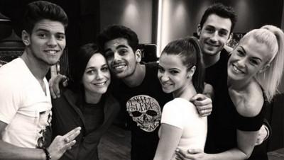 Nathalie Péchalat, Brian Joubert et Ryan Bensetti, les trois finalistes de Danse avec les stars, avec leurs danseurs