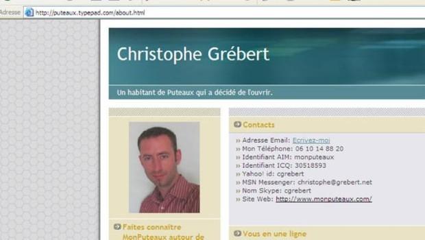 TF1/LCI : Capture écran du site monputeaux.com, avec la photographie de Christophe Grébert
