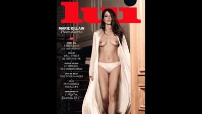La couverture du magazine Lui de février 2015 avec Marie Gillain
