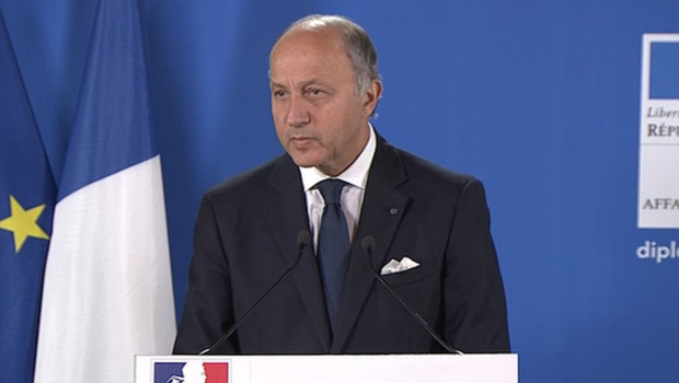 Laurent Fabius le 14 janvier 2013 au Quai d&amp;#039;Orsay