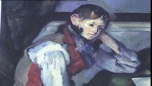 Le garçon au gilet rouge de Paul Cézanne