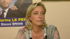 TF1-LCI : Marine Le Pen, le soir du 1er tour des législatives, le 10 juin 2007