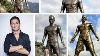Cristiano Ronaldo s'est dit très fier de son double de bronze. On le comprend, au vu de ses attributs