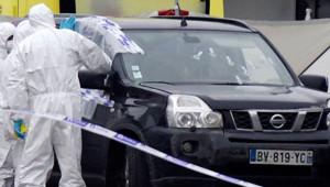 La voiture de Hakim Benladghem, suspecté d'être lié à des groupes terroristes.