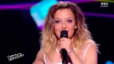 Camille Lellouche pendant les demi-finales de The Voice
