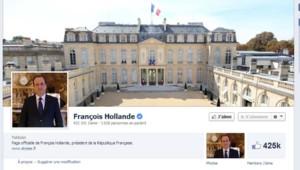 François Hollande réactive son compte Facebook le 1er janvier 2014