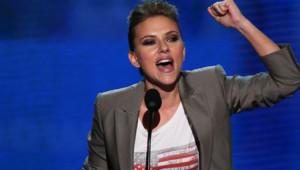 Scarlett Johansson lors de la dernière soirée de la convention démocrate à Charlotte, en Caroline du Nord (6 septembre 2012)