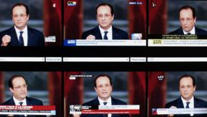 Hollande conf de presse mosaique