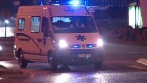 TF1/LCI : L'ambulance transportant les deux premiers blessés français rapatriés du Maroc après un grave accident de la route