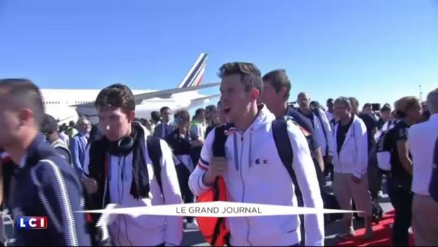 JO de Rio : de retour en France, la délégation française débute sa journée marathon