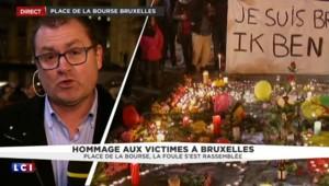 Bruxelles : des centaines de personnes réunies place de la Bourse pour la paix