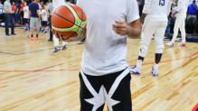 Antoine Griezmann asssite à un match de la team USA de basket