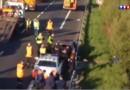 Course-poursuite et accidents en série sur l'A16 près de Dunkerque, deux motards tués