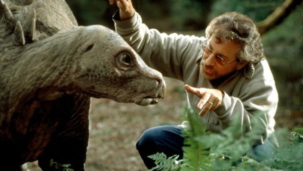 Steven Spielberg sur le tournage du film Le Monde perdu : Jurrasic Park