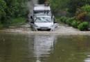 Inondation d'une route au sud d'Orléans, dans le Loiret (31/05/2016)