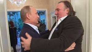 Rencontre entre Gérard Depardieu et Vladimir Poutine (5 janvier 2013)