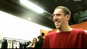 Franck Ribéry avec les Enfoirés