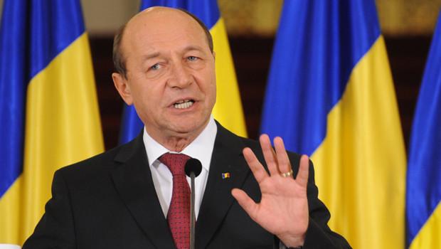 Traian Basescu, lors d'une allocution à Bucarest le 6/2/2012