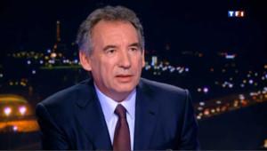 François Bayrou sur le plateau du jouranl de TF1. Image d'archive.