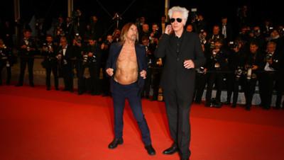 Jim Jarmusch et Iggy Pop à la projection de Gimmer Danger le 19 mai 2016 au Festival de Cannes.