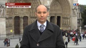 Le 20 heures du 21 mai 2013 : Un essayiste d'extr� droite se suicide dans Notre-Dame de Paris - 815.791