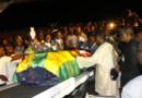 Le cercueil d'une des victimes, Amalete Abalo, à Lomé, le 10 janvier 2010.