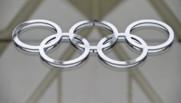Les anneaux olympiques dans le Hall du Comité international olympique