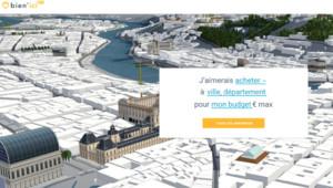 La page d'accueil du site d'annonces immobilières Bien'ici